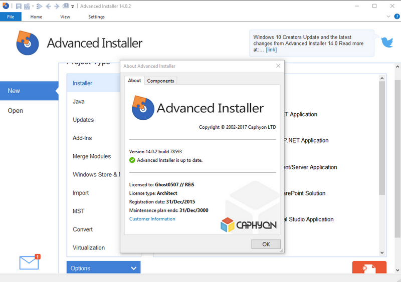 Advanced Installer Architect 14.4 Patch + Keygen Download