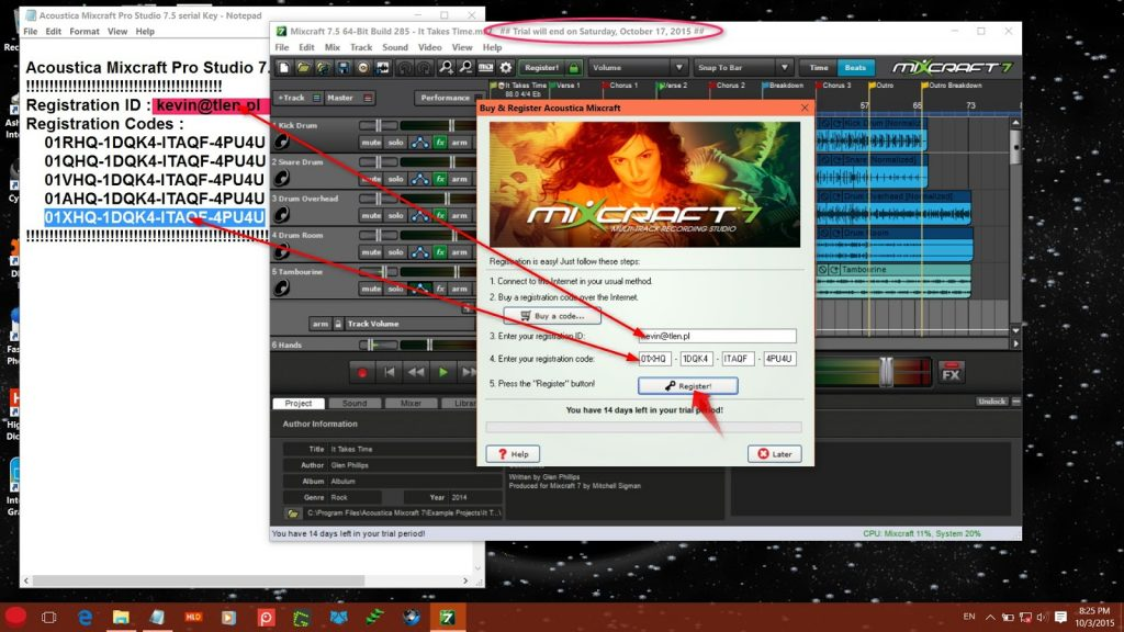 Mixcraft 8 Registration Code 2020 with Crack Full Version {Updated}